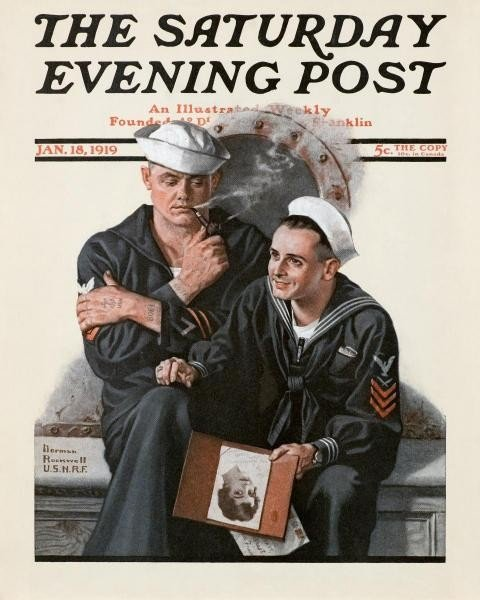 "10N: NORMAN ROCKWELL ""THINKING OF THE GIRL BACK HOME"""