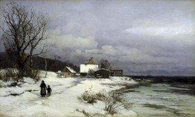 "ANDERS ANDERSON-LUNDBY""STARNBERGER SEA UNDER SNOW"""