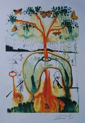 3T: SALVADOR DALI MAD TEA PARTY LIMITED ED. LITHOGRAP