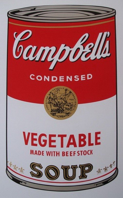11T: ANDY WARHOL CAMPBELL'S VEGETABLE SOUP CAN SERIGRA