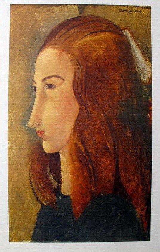 17T: AMEDEO MODIGLIANI PORTRAIT OF A GIRL FACSIMILE SIG