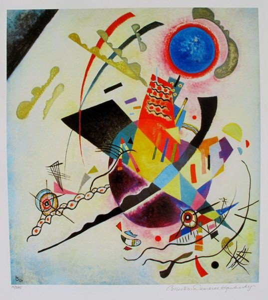 103T: WASSILY KANDINSKY BLUE CIRCLE ESTATE SIGNED LIMIT