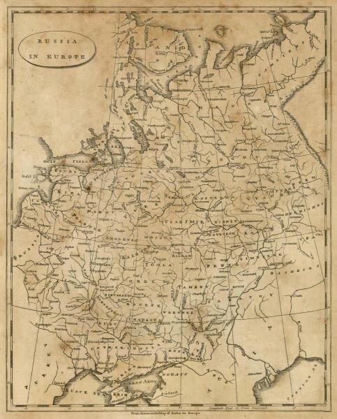 """1G: AARON ARROWSMITH""""RUSSIA IN EUROPE, 1812"""""""