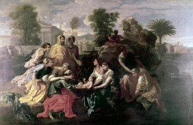 """NICOLAS POUSSIN""""DISCOVERY OF MOSES"""""""