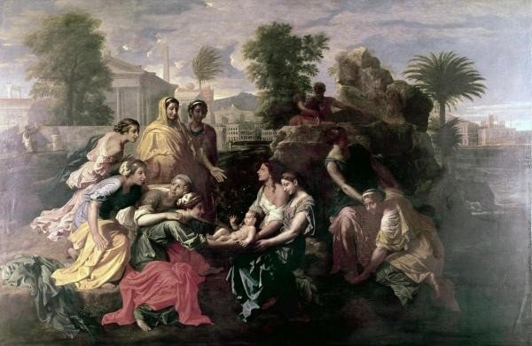 """9G: NICOLAS POUSSIN""""DISCOVERY OF MOSES"""""""