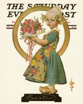 "J.C. LEYENDECKER""EASTER DUTCH GIRL, 1926"""