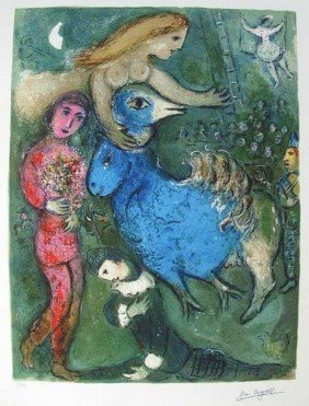 MARC CHAGALL CIRCUS FRONTISPIECE LIMITED ED. GICL