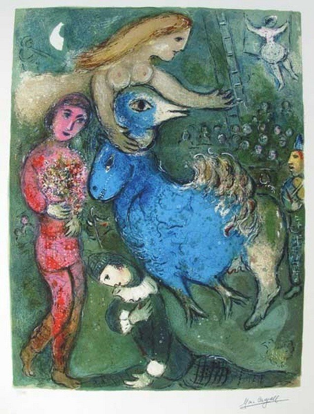 9T: MARC CHAGALL CIRCUS FRONTISPIECE LIMITED ED. GICL