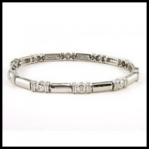 9F: CONTEMPORARY BEZEL SET DIAMOND BRACELET