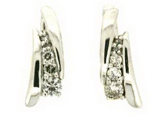 1Z: DIAMOND EARRINGS - 14KT GOLD