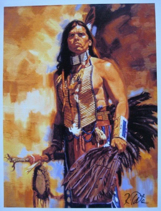 12T: ROBERT TATE WARRIOR HAND SIGNED LIMITED ED. GICLE