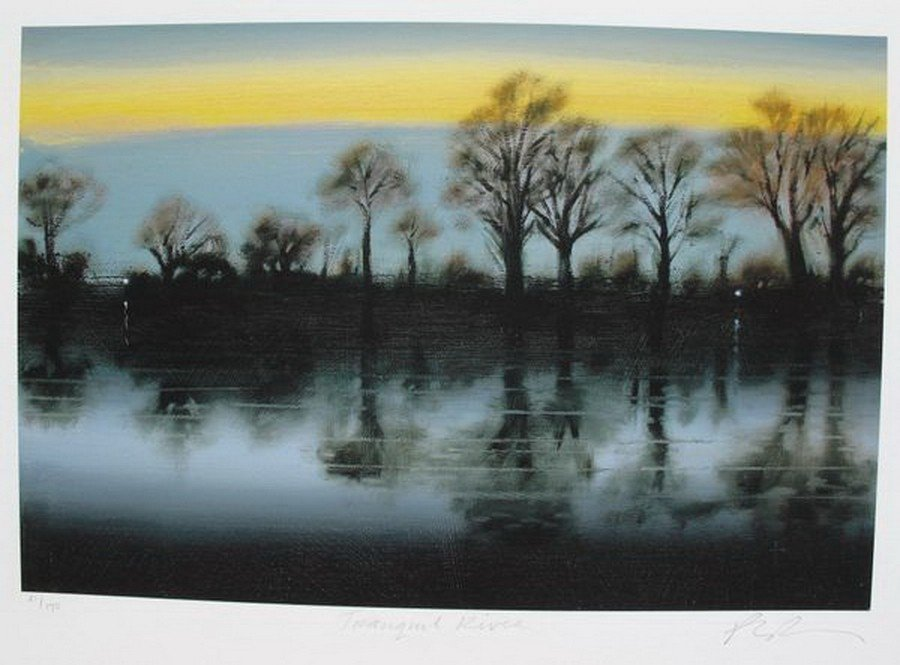 679T: PAUL POWIS TRANQUIL RIVER HAND SIGNED LIMITED ED.