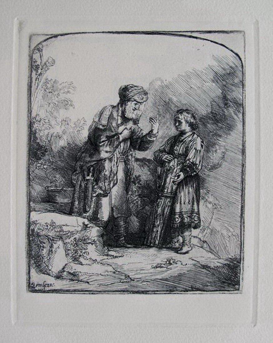 5T: REMBRANDT ABRAHAM CASTING OUT HAGAR & ISHMAEL ETC