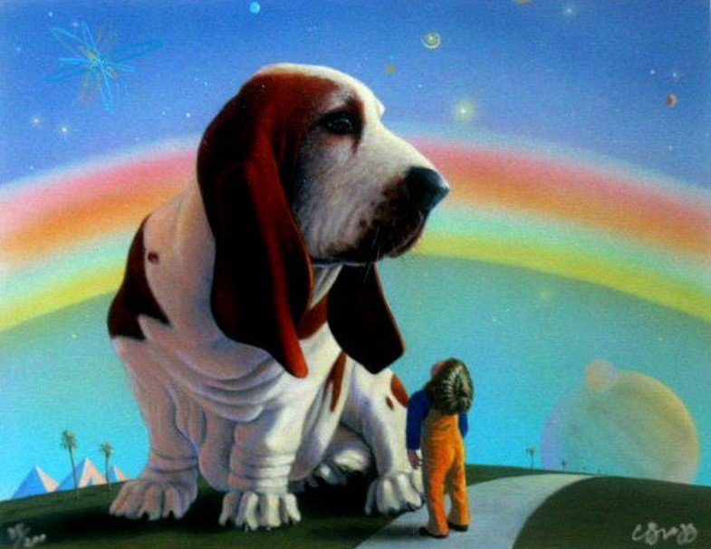 9T: CHARLES LYNN BRAGG GIANT DOG HAND SIGNED LIMITED