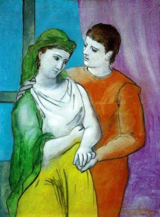 14T: #80 THE LOVERS PICASSO ESTATE SIGNED GICLÉE