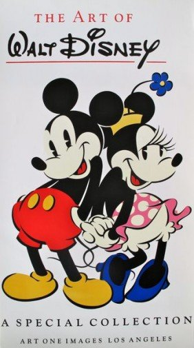 WALT DISNEY 1973 MICKEY MOUSE THE ART SERIGRAPH