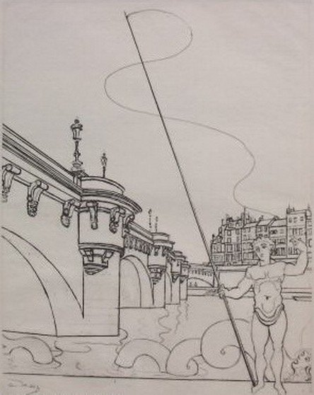 25T: ANDRE DERAIN LE PONT NEUF RESTRIKE ETCHING