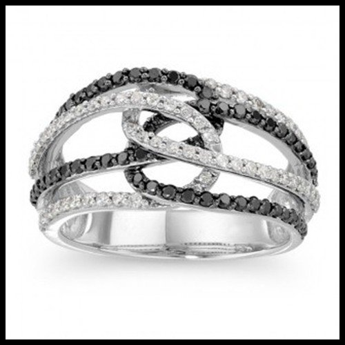 9F: BLACK AND WHITE DIAMOND BAND