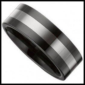 CERAMIC AND TUNGSTEN RING
