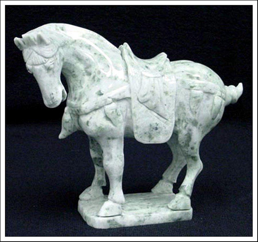 22J: REAL JADE SADDLED TANG HORSE