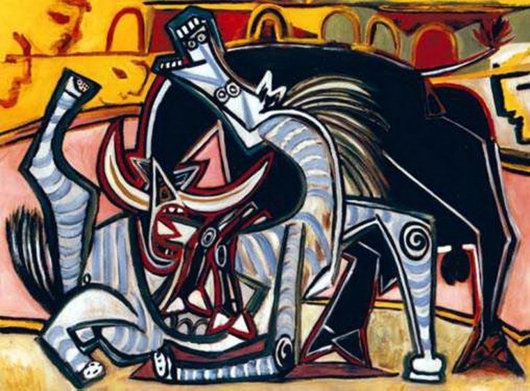 5T: #61 THE BULLFIGHT PICASSO ESTATE SIGNED GICLÉE