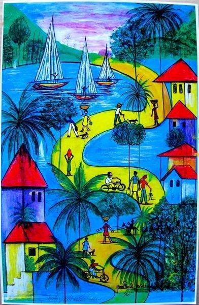 69T: JEAN PAUL HAITIAN ART HAITIAN SUNDAY HAND SIGNED