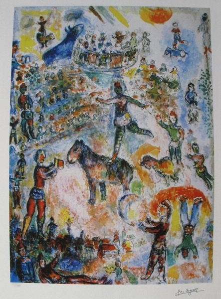 75T: MARC CHAGALL CIRCUS GRAND LIMITED ED. GICLEE