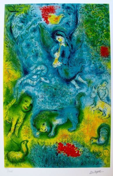 77T: MARC CHAGALL MAGIC FLUTE LIMITED ED. SMALL GICLÉE