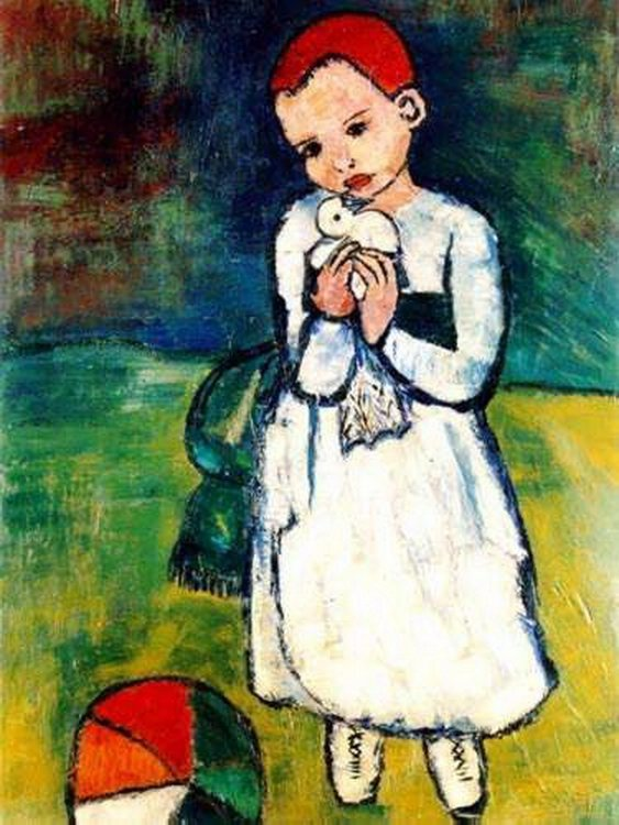 357T: #60 CHILD HOLDING A DOVE PICASSO ESTATE SIGNED GI