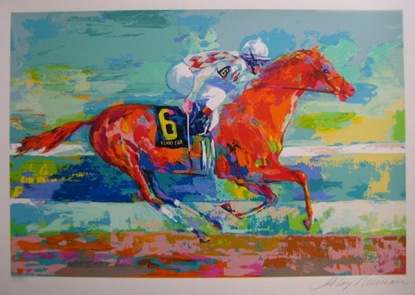 581S: Leroy Neiman FUNNY CIDE Hand Signed Limited Ed. S