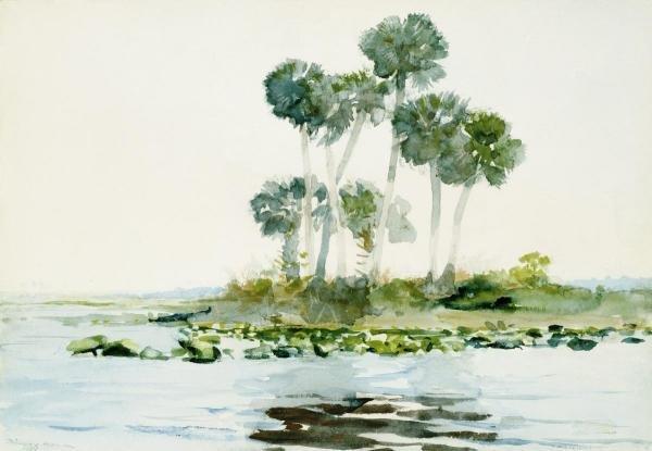 "77K: WINSLOW HOMER  ""ST. JOHNS RIVER, FLORIDA"""