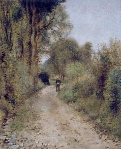 "41H: PIERRE AUGUSTE RENOIR  ""ON THE PATH"""