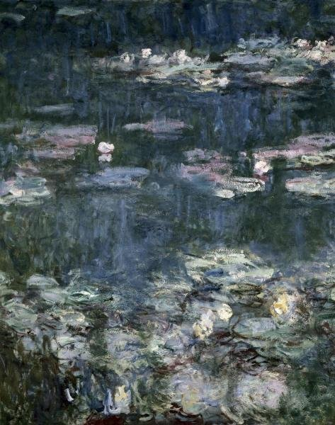 "966H: CLAUDE MONET  ""NYMPHEASWATER LILIESDETAIL"""