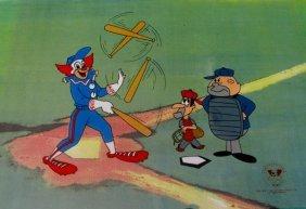 Bozo The Clown BOZO BASEBALL Animation Sericel