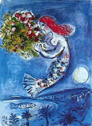 79T: MARC CHAGALL BAY OF ANGELS LIMITED ED. SMALL GICLÉ