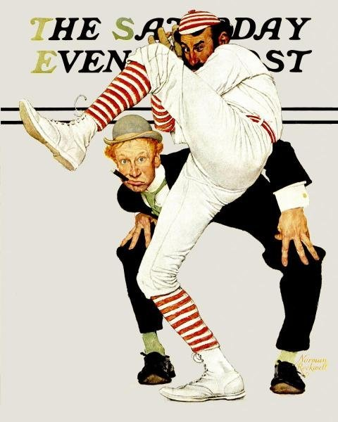 """1G: NORMAN ROCKWELL  """"100TH YEAR OF BASEBALL"""""""