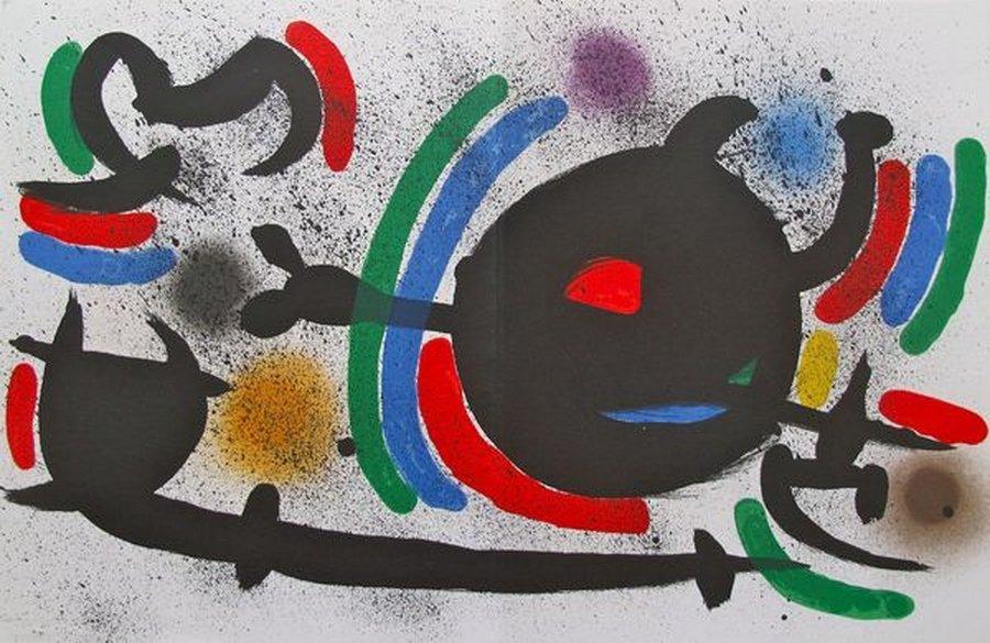 "1S: JOAN MIRO 1972 ""X"" ORIGINAL LITHOGRAPH"