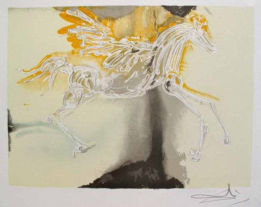 4S: SALVADOR DALI DALINEAN HORSES PEGASSUS ORIGINAL LIT