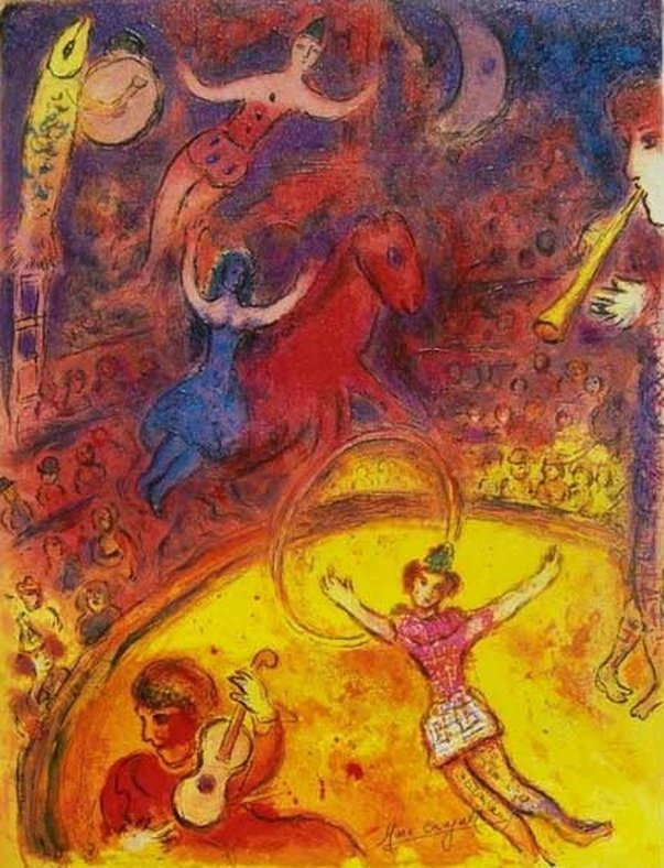 58S: MARC CHAGALL CIRCUS LIMITED ED. GICLEE