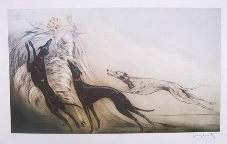 61T: LOUIS ICART COURSING II LIMITED ED. GICLEE