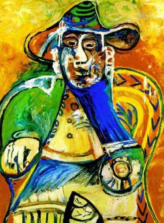 64T: #64 SEATED OLD MAN PICASSO ESTATE SIGNED GICLÉE