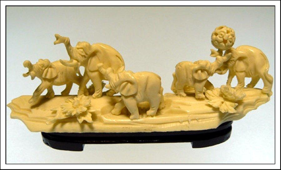 57J: BONE ELEPHANTS JUNGLE