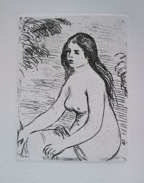 3T: Pierre-Auguste Renoir SEATED NUDE Restrike Etching