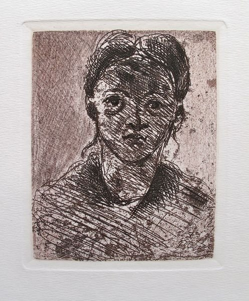 9T: Paul Cezanne HEAD OF A YOUNG GIRL Restrike Etching