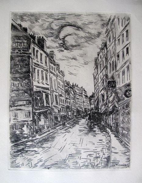 13T: Maurice Vlaminck GLACIERE ROAD Restrike Etching