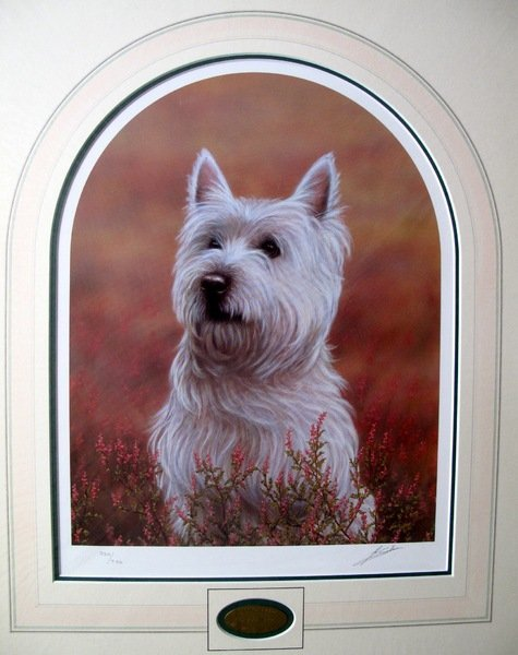15T: John Silver WEST HIGHLAND TERRIER Limited Ed. Hand