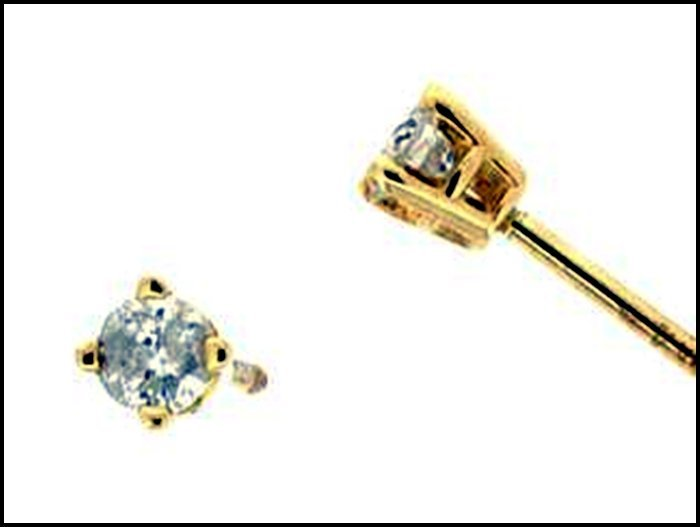 1Z: DIAMOND EARRINGS - 14 KARAT GOLD