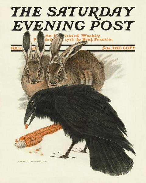 """16G: CROW AND RABBITS, 1916"""""""