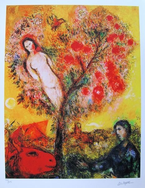3T: MARC CHAGALL TREE OF LIFE LIMITED ED. SMALL GICLÉE