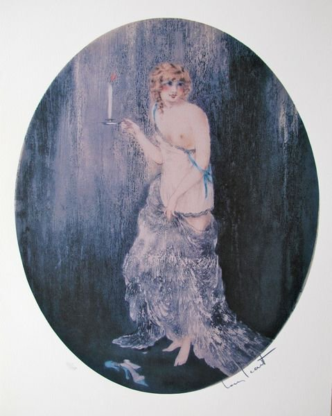 15T: LOUIS ICART BEDTIME LIMITED ED. GICLEE